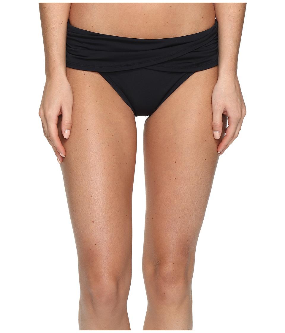 Bleu Rod Beattie - Knotty But Nice Sarong Hipster Bottom (Black) Women's Swimwear