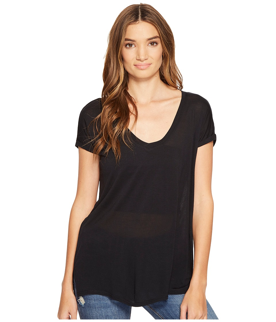 O'Neill - Shia Knit Top (Black) Women's Short Sleeve Knit
