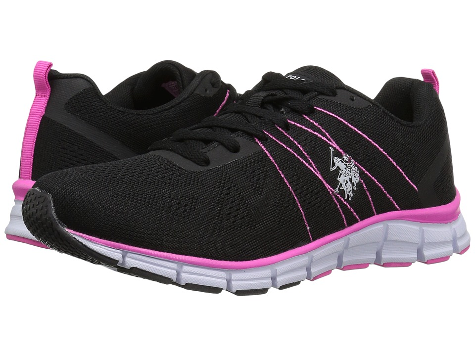 U.S. POLO ASSN. - Joan-E (Black/Pink/White) Women's Shoes