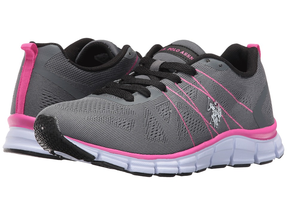 U.S. POLO ASSN. - Joan-E (Dark Grey/Fuchsia/White/Black) Women's Shoes