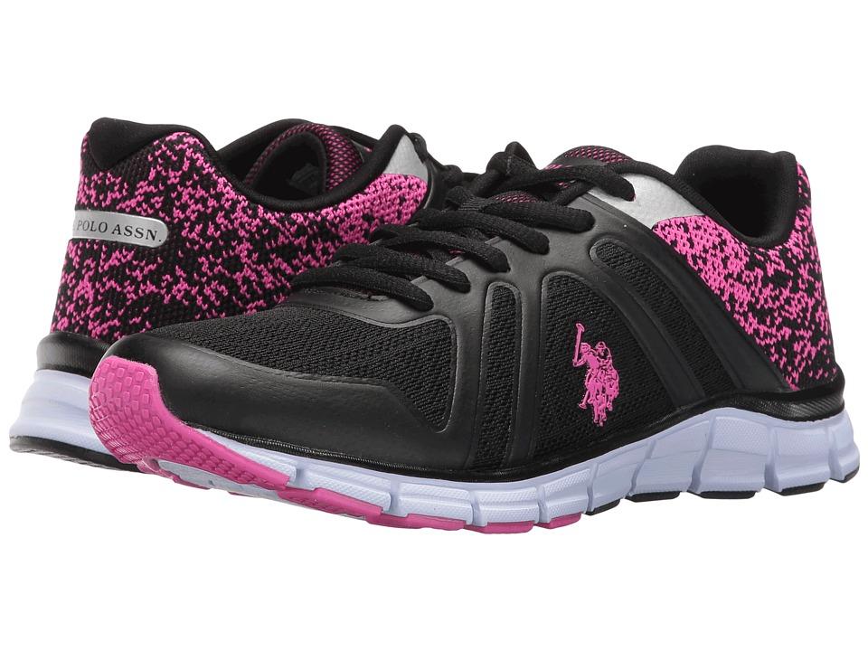 U.S. POLO ASSN. - Piper-K (Black/Fuchsia) Women's Shoes
