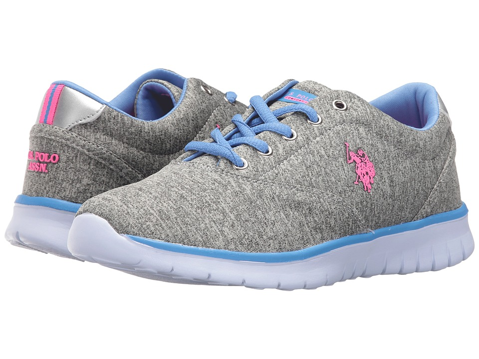 U.S. POLO ASSN. - Maxine9 (Grey Heather Jersey/Hot Pink/Periwinkle) Women's Shoes