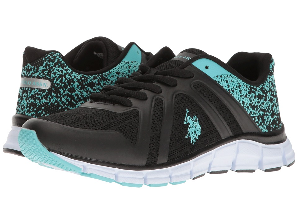U.S. POLO ASSN. - Piper-K (Black/Mint) Women's Shoes