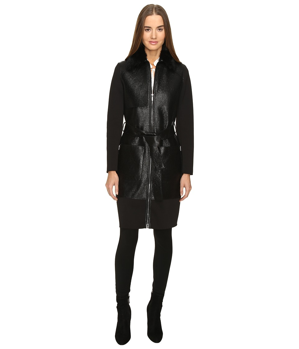ZAC Zac Posen - Beverly Trench Coat (Ebony) Women's Coat