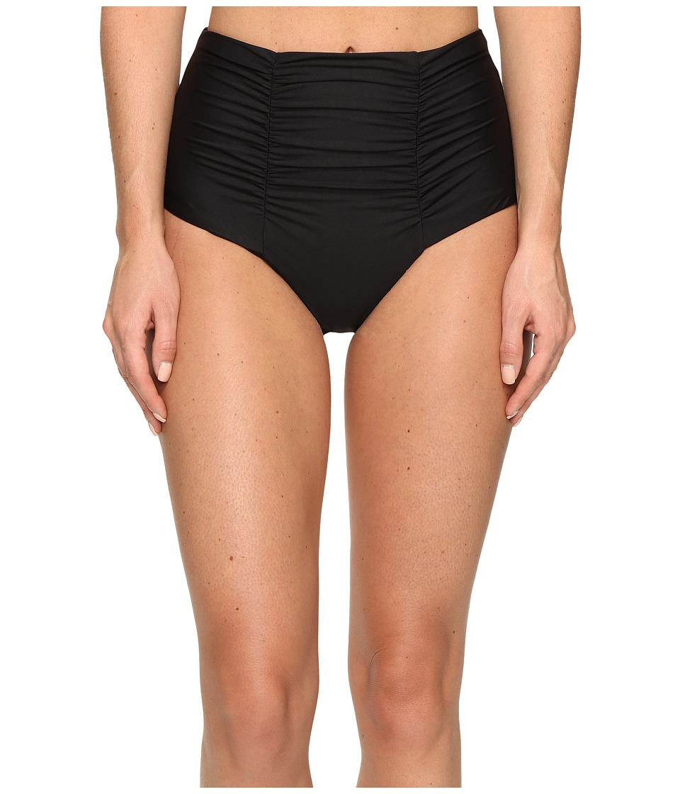 BECCA by Rebecca Virtue - Color Code Vintage High Waist Bottom (Black) Women's Swimwear