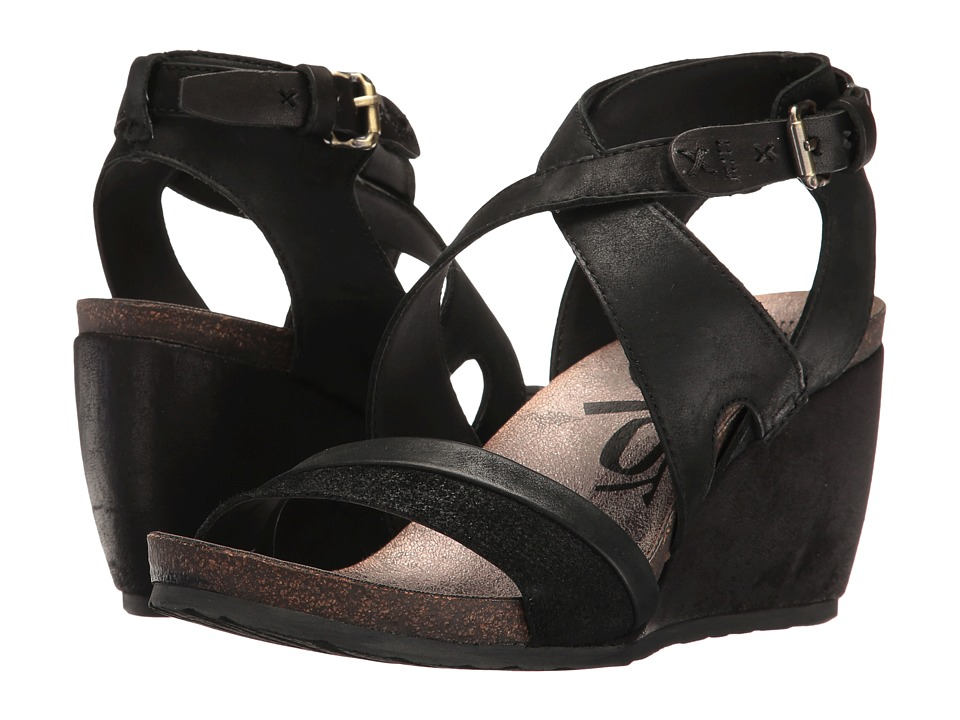OTBT - Freedom (Black) Women's Wedge Shoes