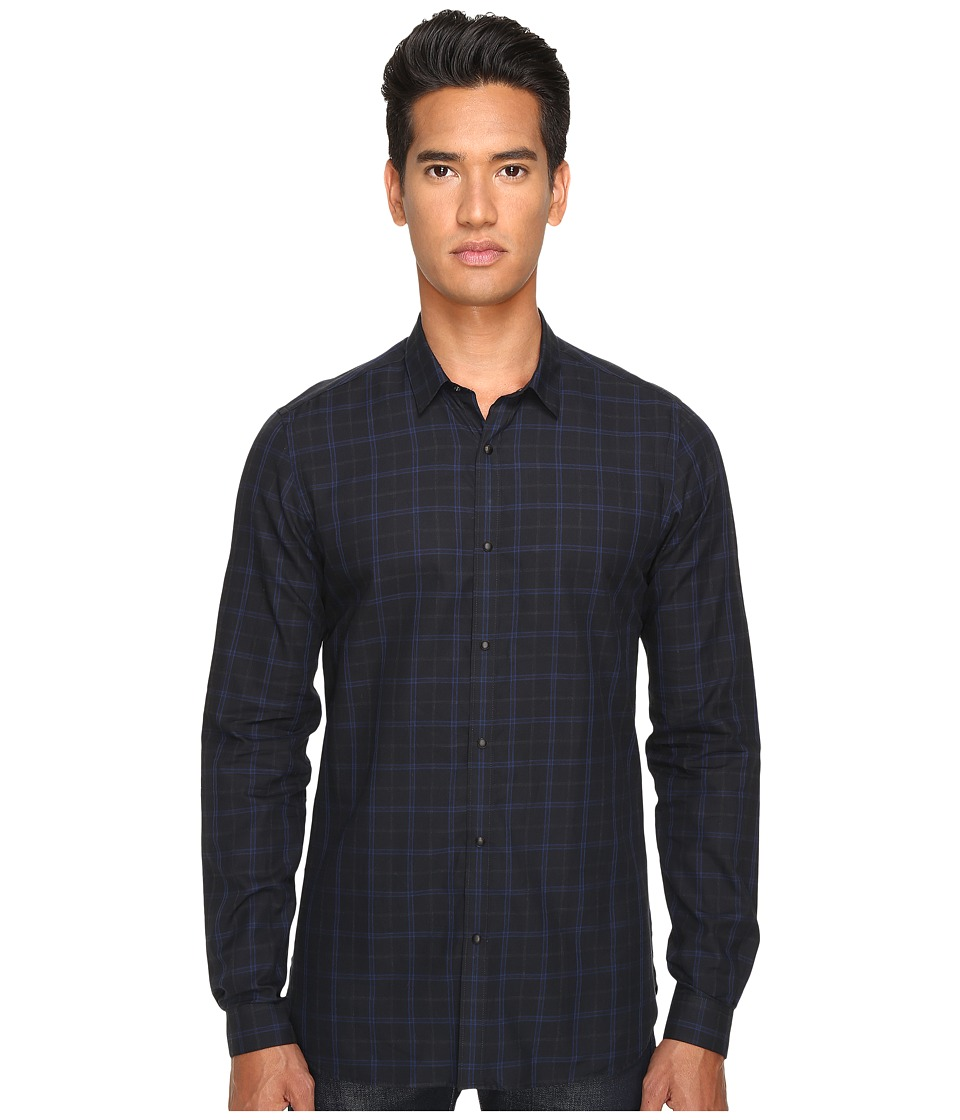 The Kooples - Classic Fit Dark Room Shirt (Blue Grey) Men's Long Sleeve Button Up