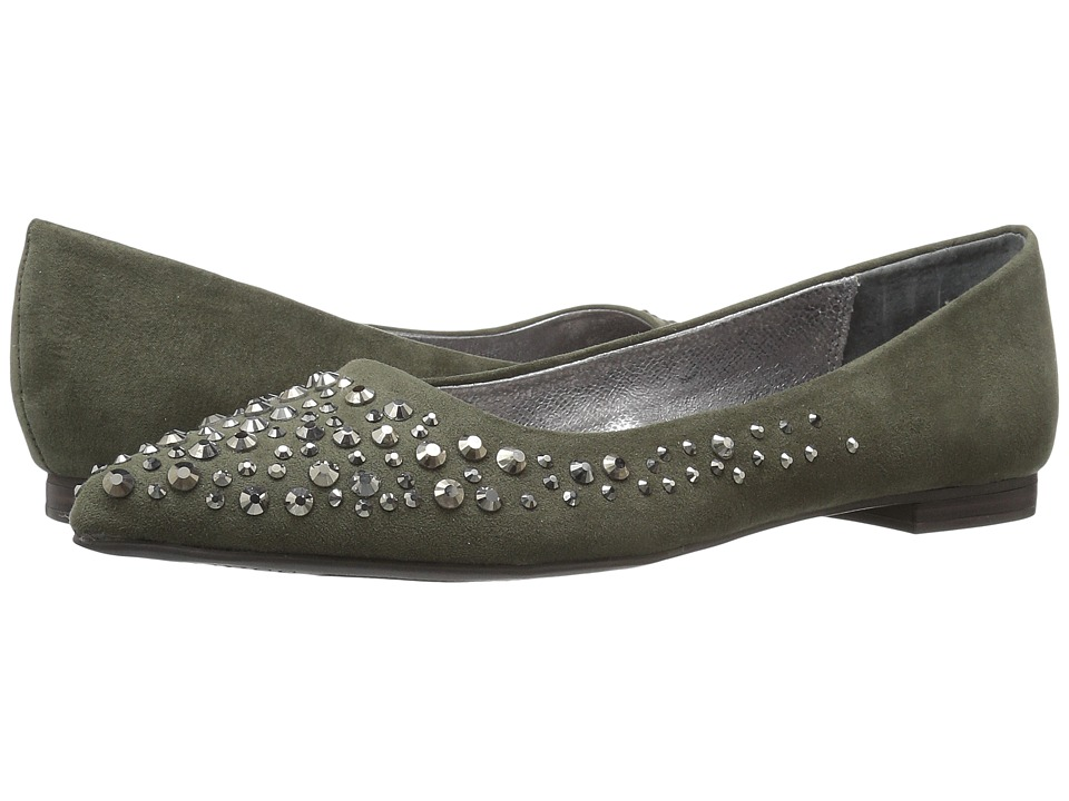 GUESS - Volted (Olive Suede) Women's Flat Shoes
