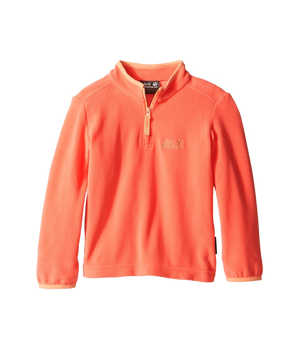 Jack Wolfskin Kids - Gecko Nanuk 1/2 Zip (Infant/Toddler) (Hot Coral) Girl's Clothing
