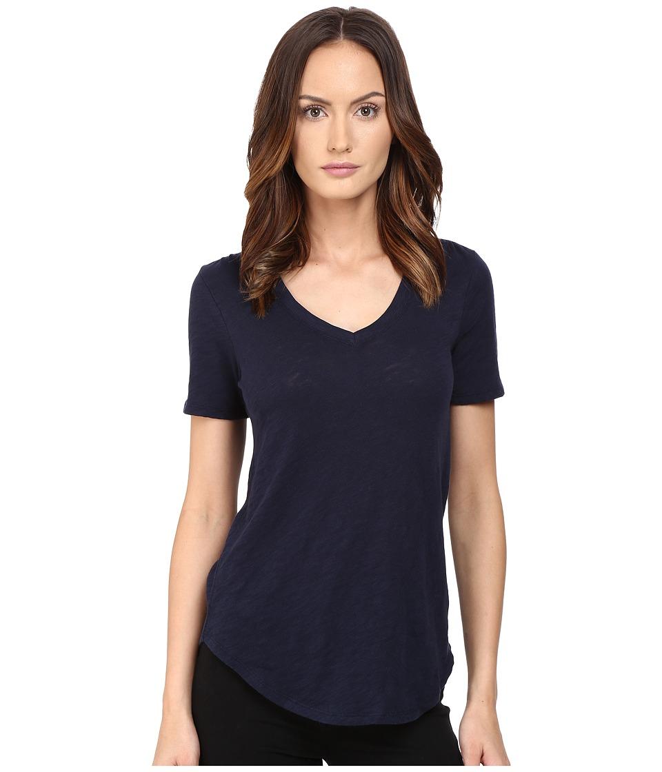 ATM Anthony Thomas Melillo - Slub Jersey V-Neck (Midnight) Women's T Shirt