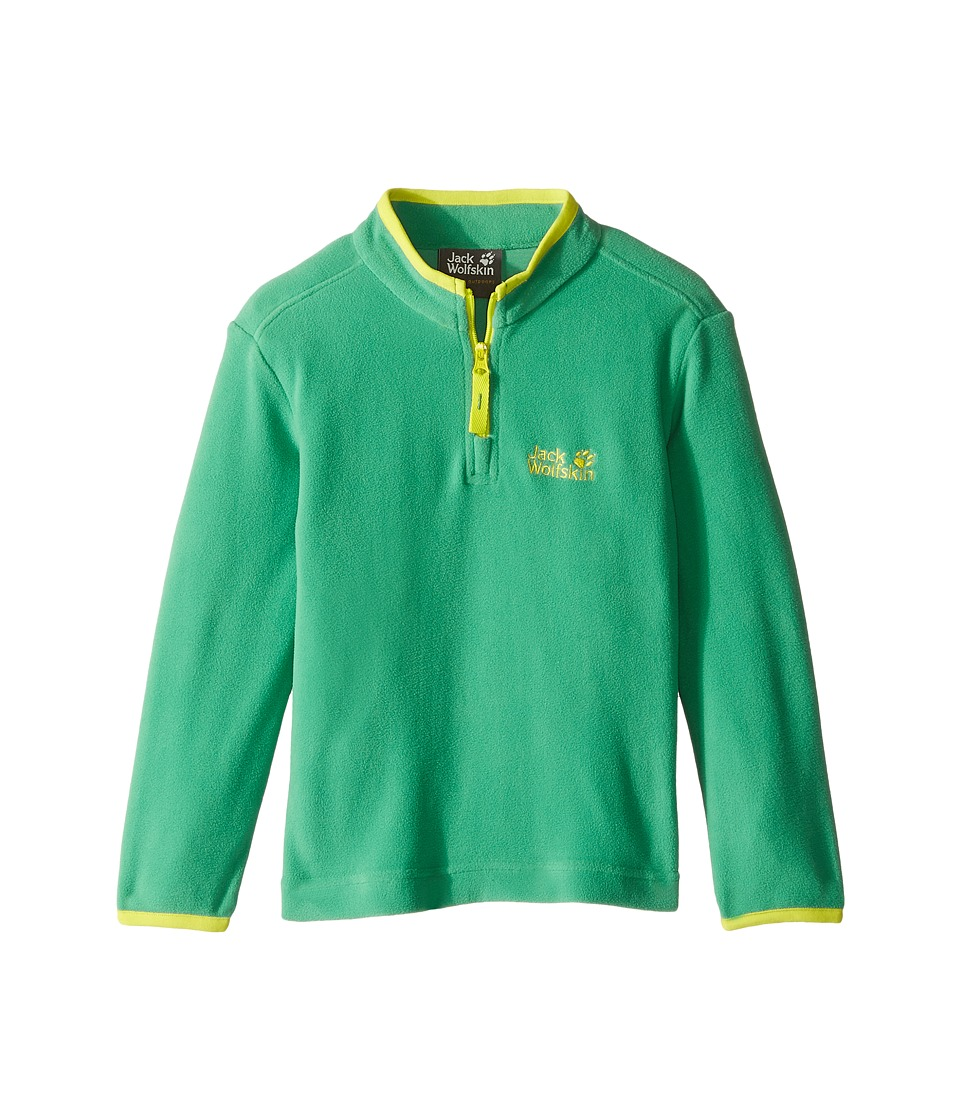 Jack Wolfskin Kids - Gecko Nanuk 1/2 Zip (Infant/Toddler) (Leaf Green) Boy's Clothing
