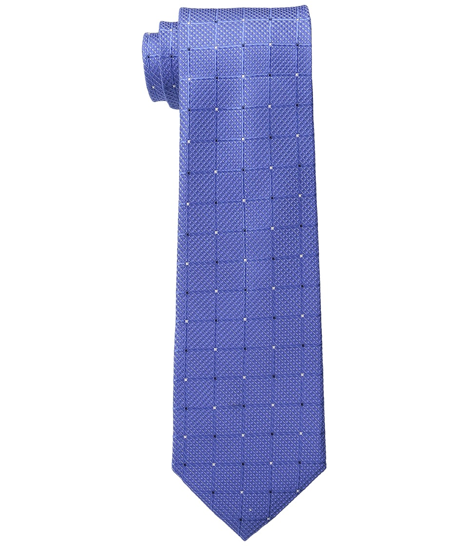 MICHAEL Michael Kors - Tonal Grid w/ Pip (Blue) Ties