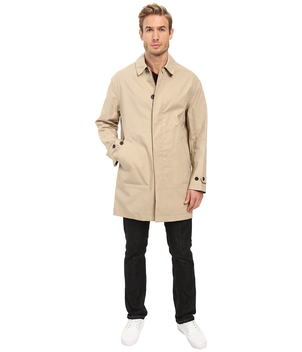 COACH - Lightweight Hudson Car Coat (Stone) Men's Coat