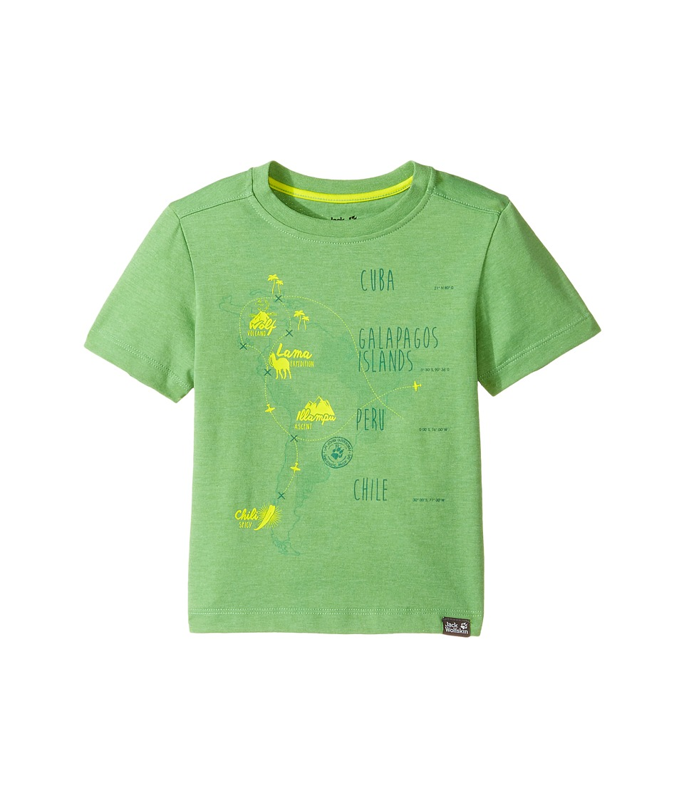 Jack Wolfskin Kids - Journey Tee (Infant/Toddler) (Vivid Green) Boy's T Shirt