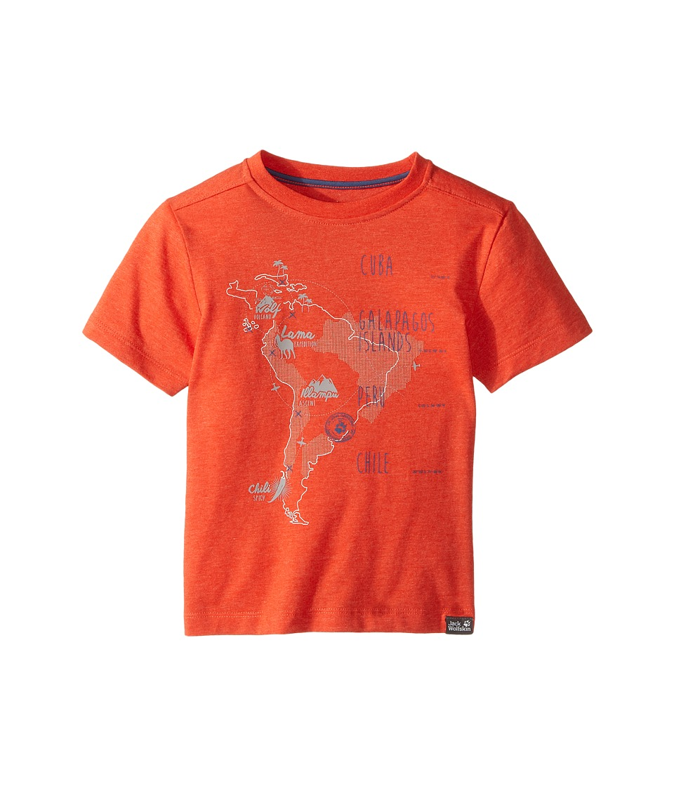 Jack Wolfskin Kids - Journey Tee (Infant/Toddler) (Lobster Red) Boy's T Shirt