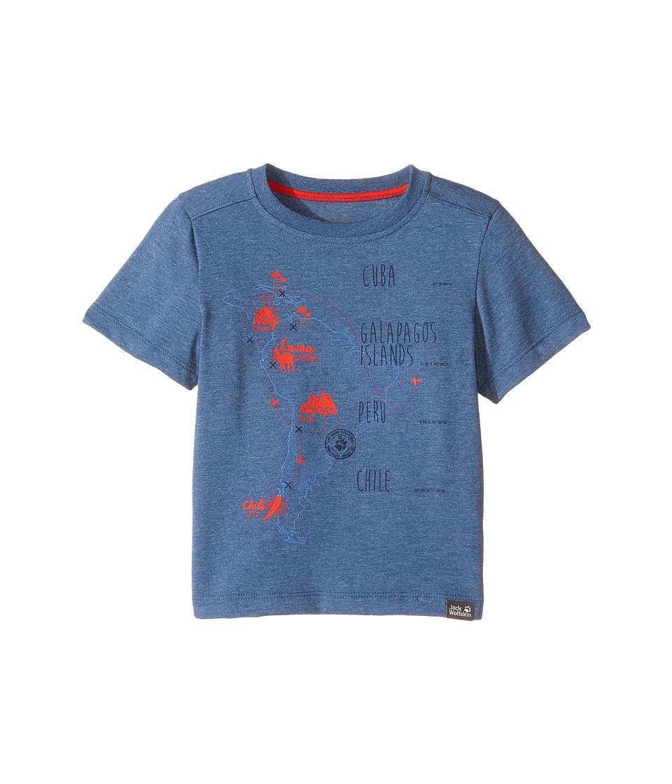 Jack Wolfskin Kids - Journey Tee (Infant/Toddler) (Ocean Wave) Boy's T Shirt