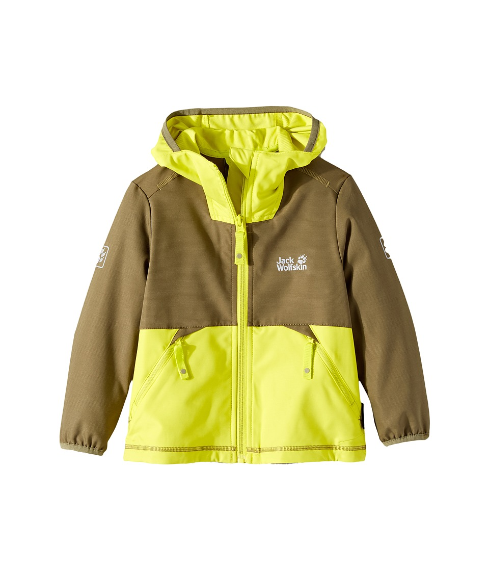 Jack Wolfskin Kids - Turbulence Softshell Jacket (Infant/Toddler) (Burnt Olive) Boy's Coat