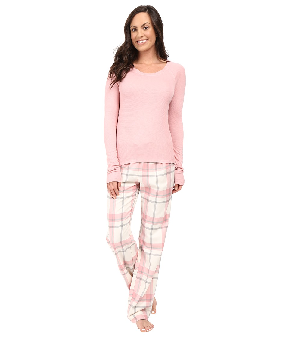Splendid - Festive Flannel PJ Set (Dusty Plaid) Women's Pajama Sets