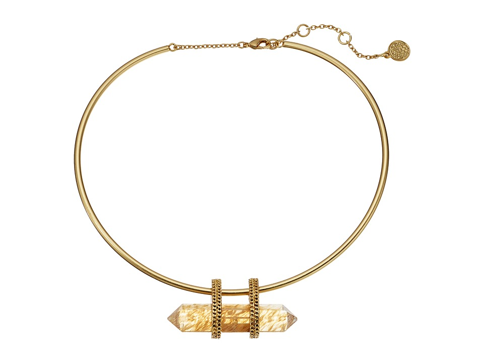 Vince Camuto - Torque Collar Necklace (Worn Gold/Citrine Glass) Necklace