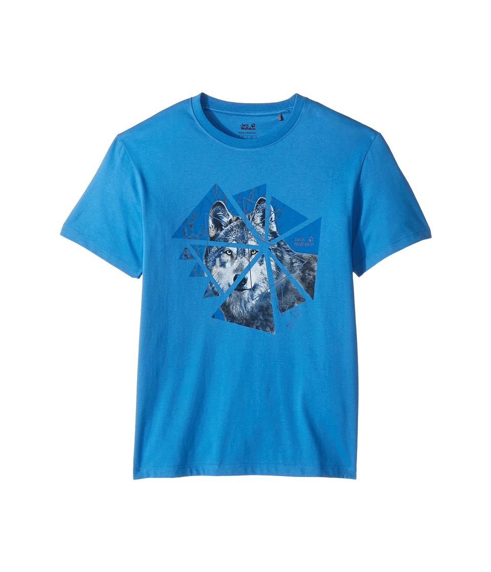 Jack Wolfskin Kids - Wolf Tee (Little Kids/Big Kids) (Wave Blue) Boy's T Shirt