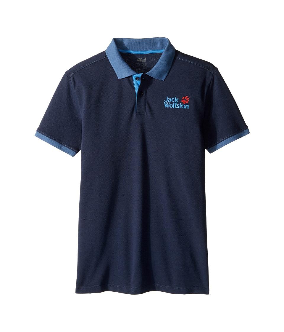 Jack Wolfskin Kids - Pique Polo (Little Kids/Big Kids) (Night Blue) Boy's Short Sleeve Pullover
