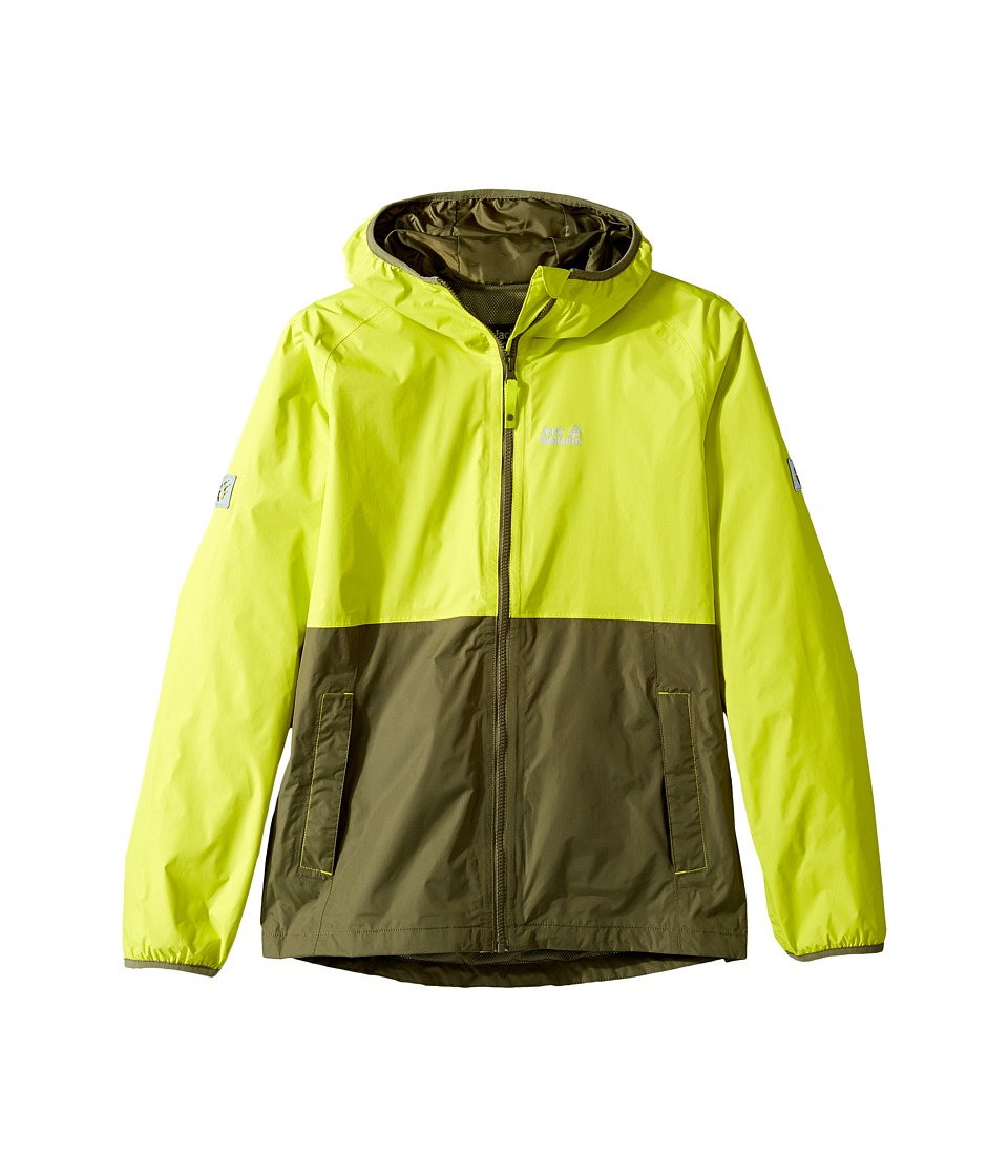 Jack Wolfskin Kids - Rainy Days Rain Jacket (Little Kids/Big Kids) (Flashing Green) Boy's Coat