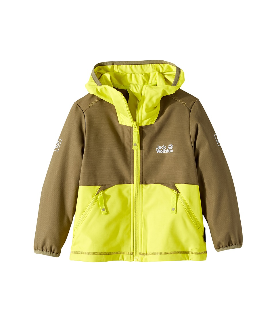 Jack Wolfskin Kids - Turbulence Softshell Jacket (Little Kids/Big Kids) (Burnt Olive) Boy's Coat