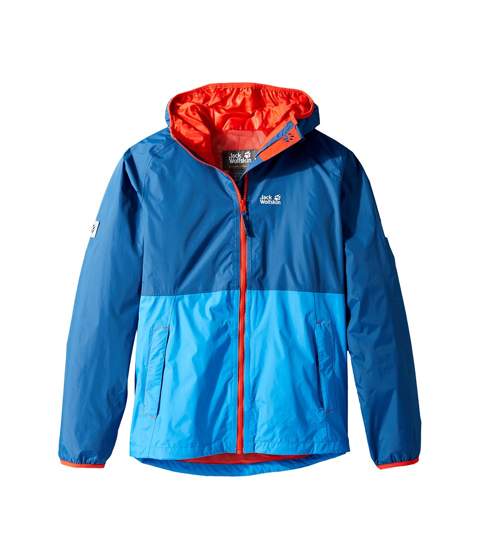 Jack Wolfskin Kids - Rainy Days Rain Jacket (Little Kids/Big Kids) (Ocean Wave) Boy's Coat