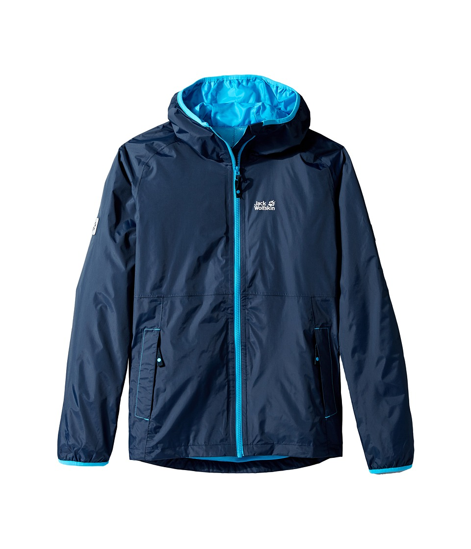 Jack Wolfskin Kids - Rainy Days Rain Jacket (Little Kids/Big Kids) (Night Blue) Boy's Coat