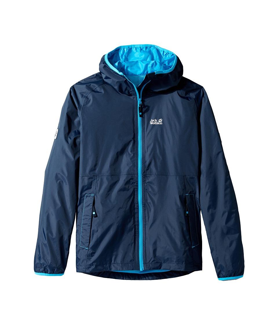 Jack Wolfskin Kids - Rainy Days Rain Jacket (Little Kids/Big Kids) (Night Blue) Boy's Coat