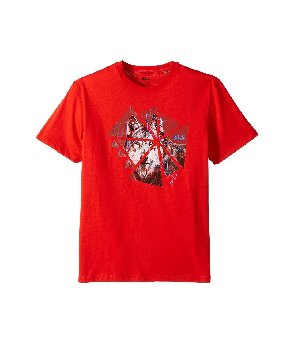 Jack Wolfskin Kids - Wolf Tee (Little Kids/Big Kids) (Fiery Red) Boy's T Shirt