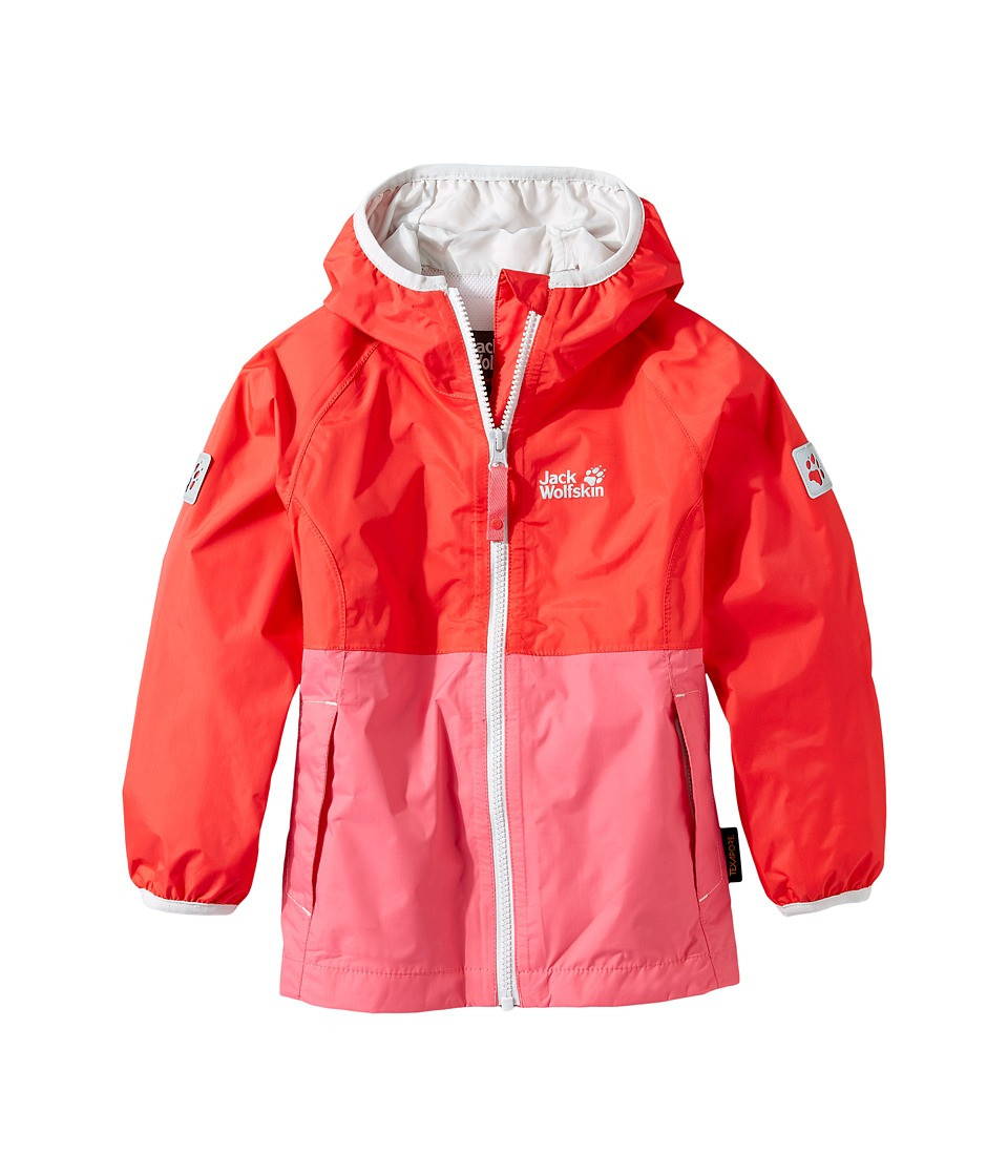 Jack Wolfskin Kids - Rainy Days Rain Jacket (Infant/Toddler) (Hibiscus Red) Girl's Coat