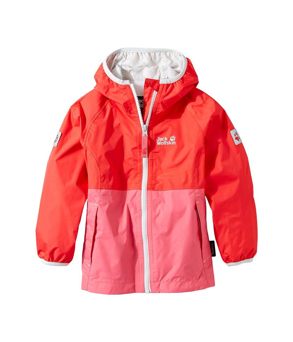 Jack Wolfskin Kids - Rainy Days Rain Jacket (Infant/Toddler) (Hibiscus Red) Girl's Coat