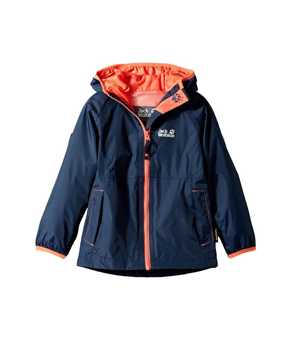 Jack Wolfskin Kids - Rainy Days Rain Jacket (Infant/Toddler) (Midnight Blue) Girl's Coat