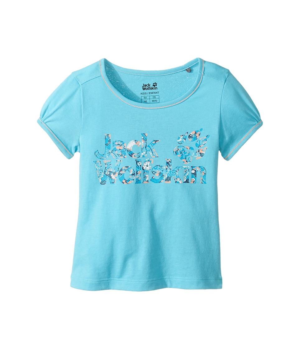 Jack Wolfskin Kids - Brand Tee (Infant/Toddler) (Lake Blue) Girl's T Shirt