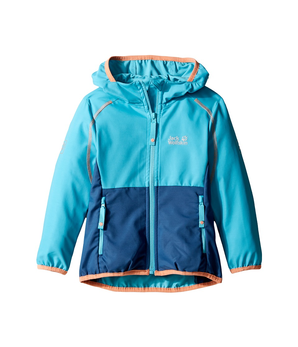 Jack Wolfskin Kids - Turbulence Softshell Jacket (Infant/Toddler) (Lake Blue) Girl's Coat