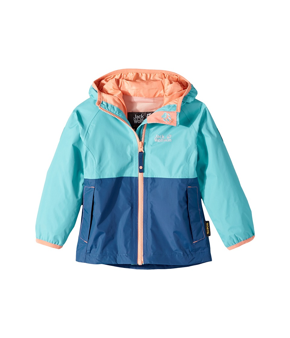 Jack Wolfskin Kids - Rainy Days Rain Jacket (Infant/Toddler) (Lake Blue) Girl's Coat