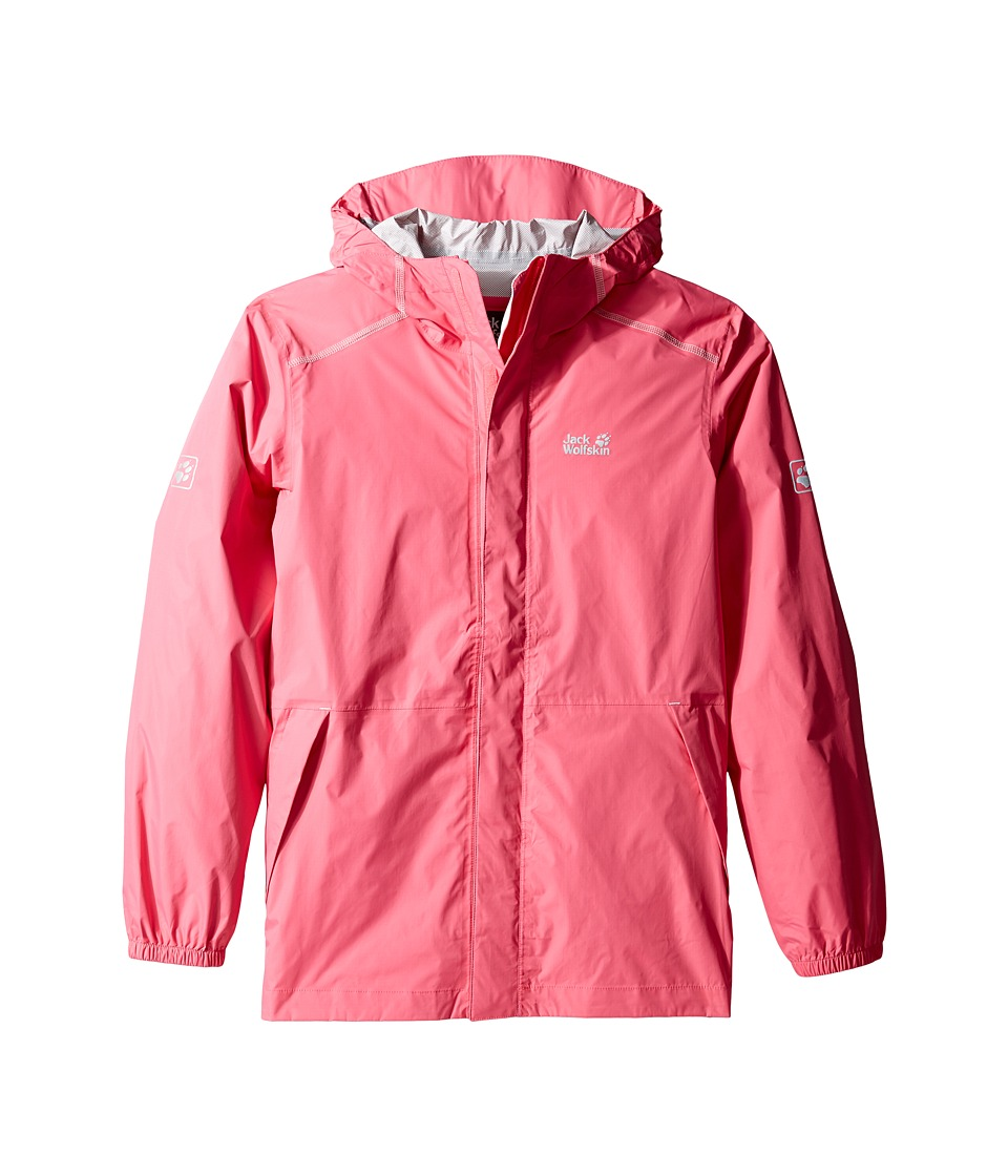 Jack Wolfskin Kids Cloudburst Jacket (Little Kids/Big Kids) (Hot Pink) Girl