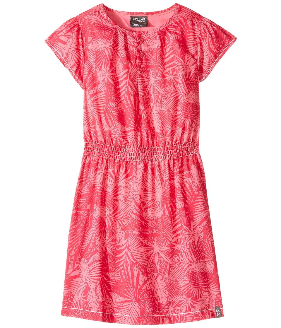 Jack Wolfskin Kids - Jungle Dress (Little Kids/Big Kids) (Hot Pink All Over) Girl's Dress