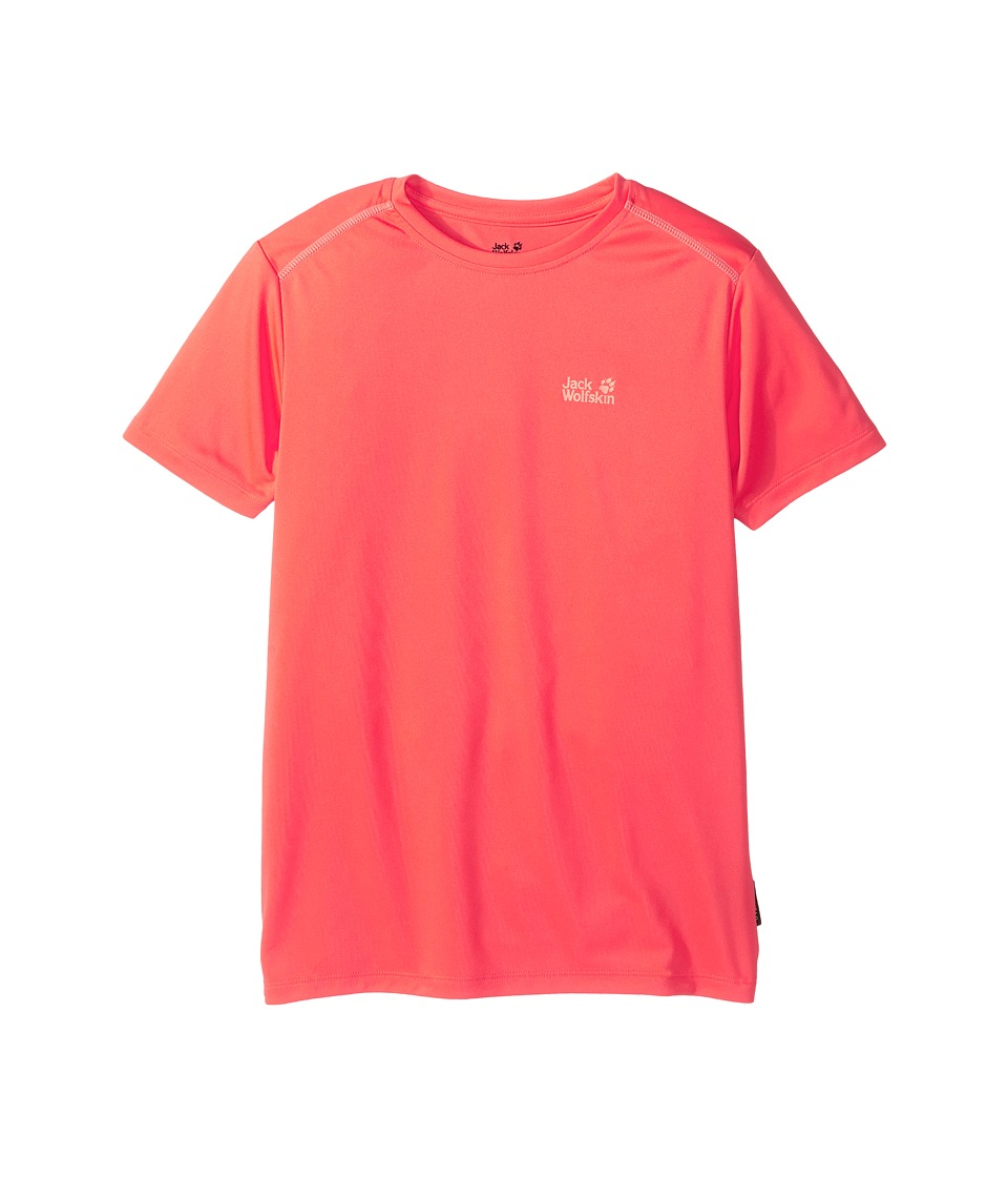 Jack Wolfskin Kids - Shoreline Tee (Little Kids/Big Kids) (Hot Coral) Girl's T Shirt
