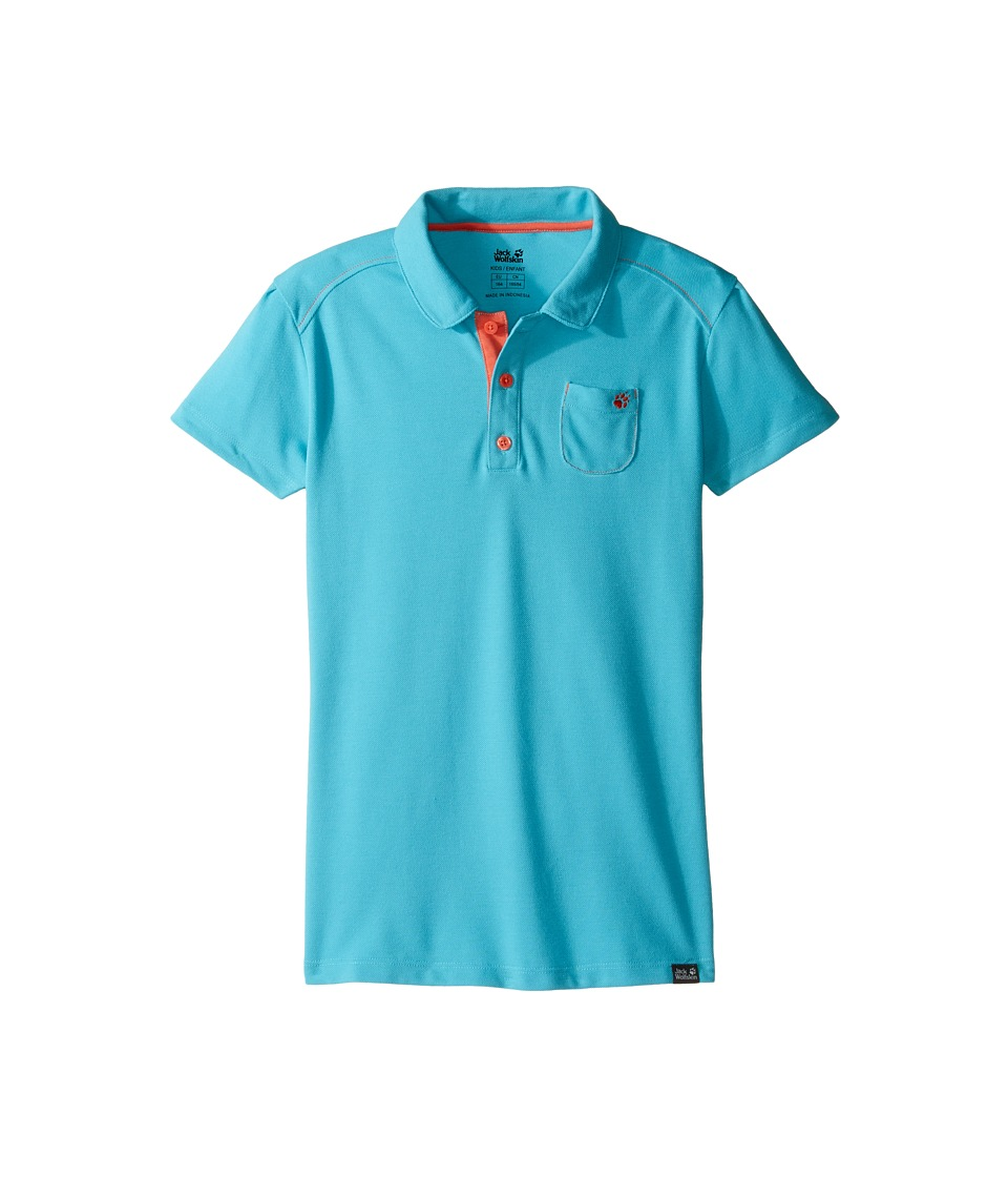 Jack Wolfskin Kids - Pique Polo (Little Kids/Big Kids) (Lake Blue) Girl's Short Sleeve Pullover