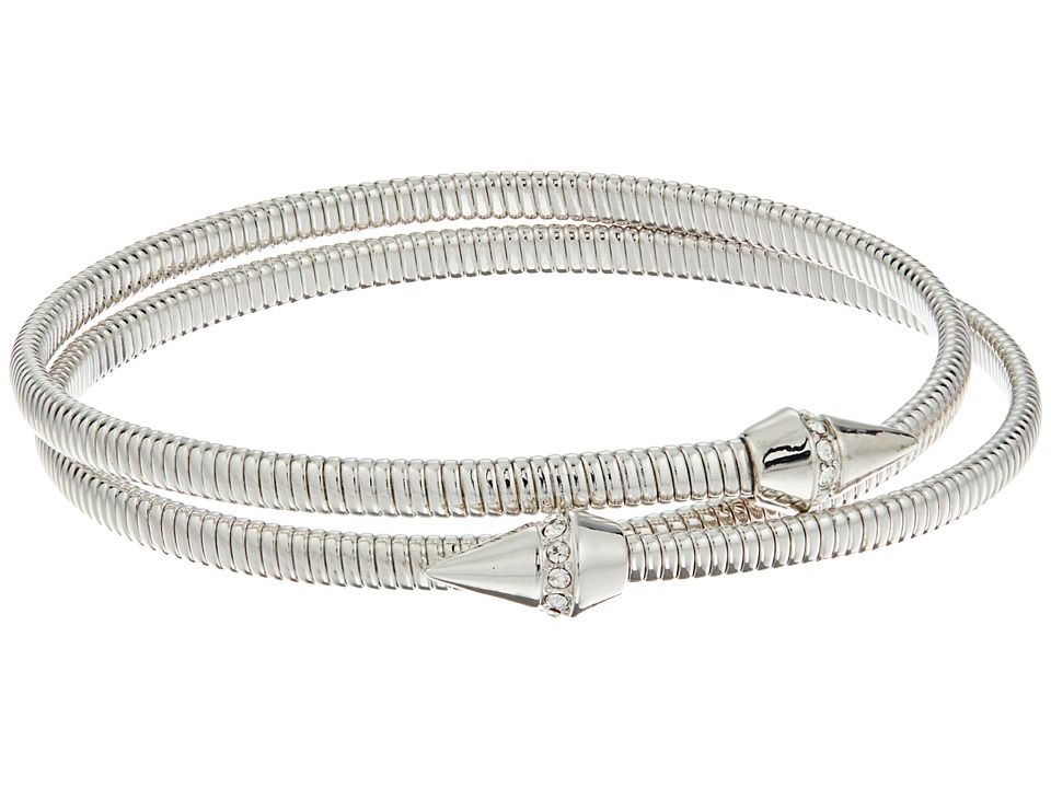 Vince Camuto - Coil Bracelet w/ Pave Cone (Light Rhodium/Crystal) Bracelet