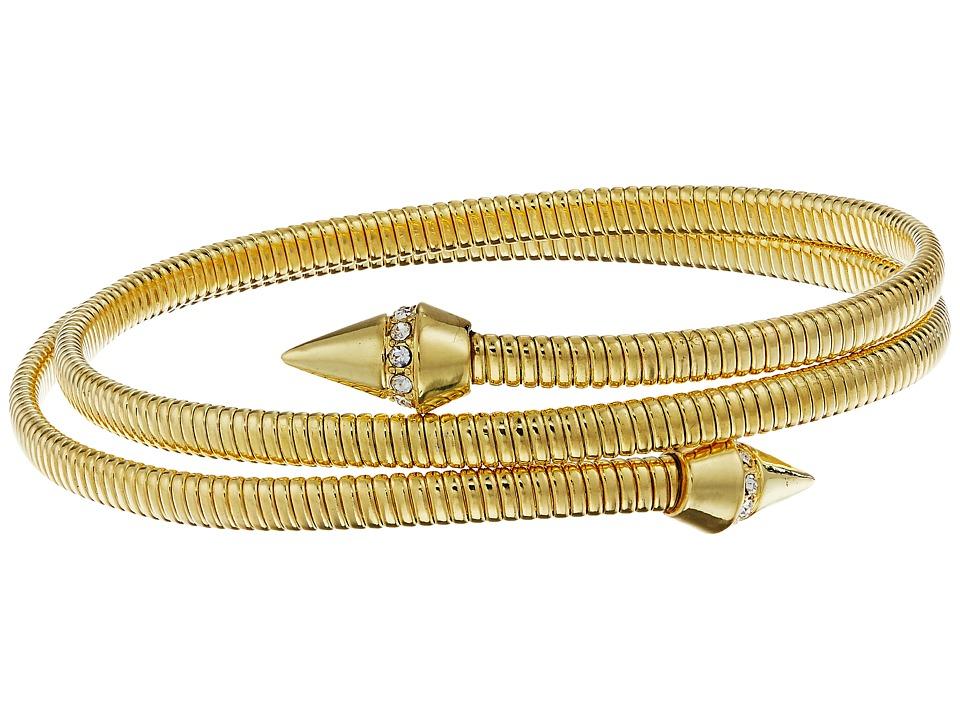 Vince Camuto - Coil Bracelet w/ Pave Cone (Gold/Crystal) Bracelet