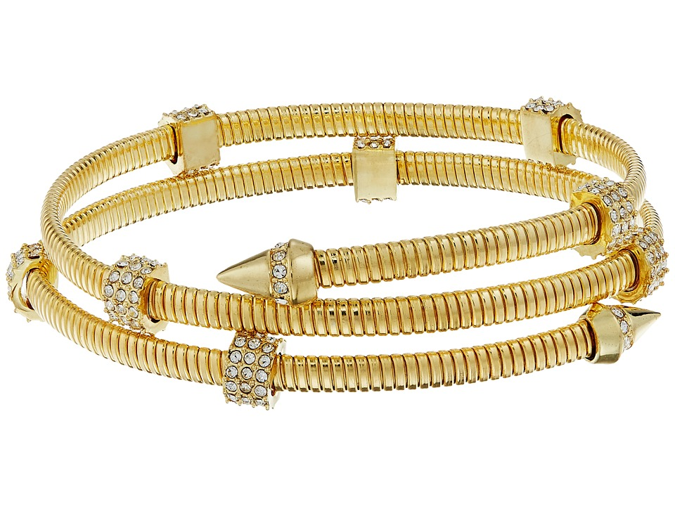 Vince Camuto - Coil Bracelet w/ Pave (Gold/Crystal) Bracelet