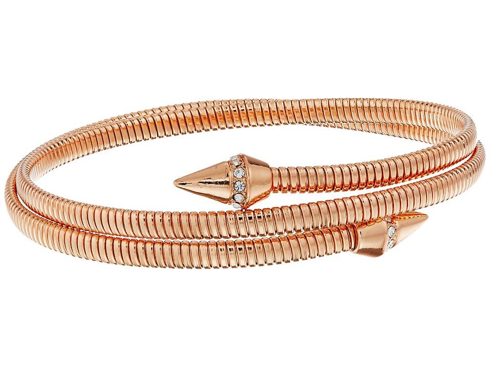 Vince Camuto - Coil Bracelet w/ Pave Cone (Burnt Rose Gold/Crystal) Bracelet