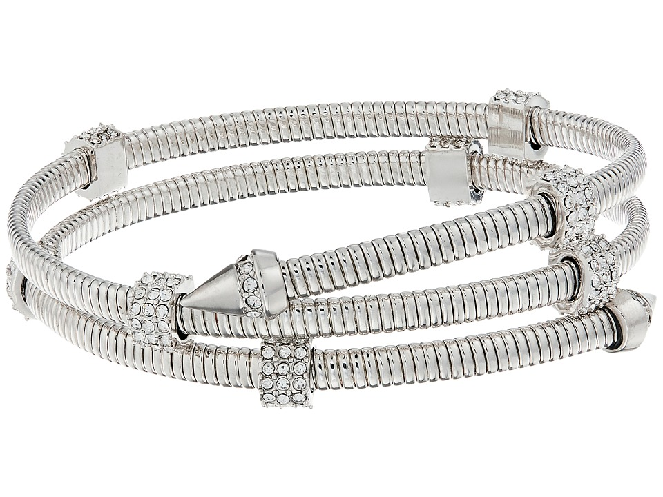 Vince Camuto - Coil Bracelet w/ Pave (Light Rhodium/Crystal) Bracelet