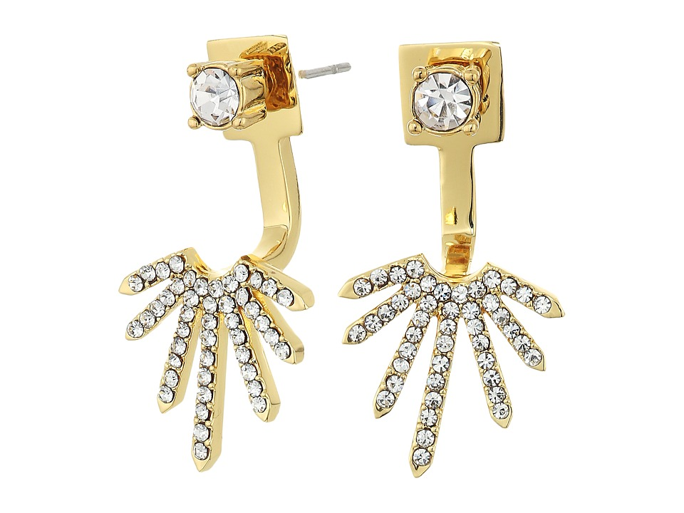 Vince Camuto - Front Back Earrings (Gold/Crystal) Earring