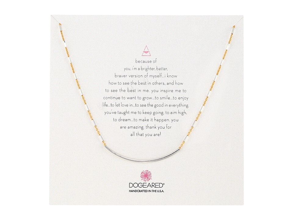 Dogeared - Balance Tube on Sparkle Chain Necklace (Gold Dipped/Sterling Silver) Necklace