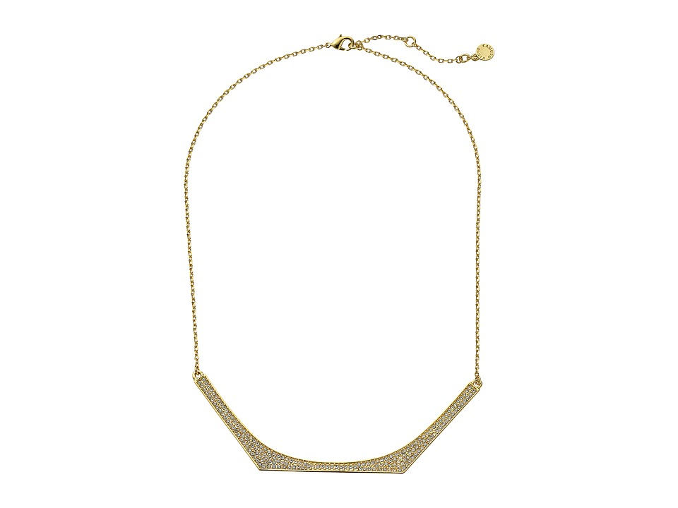 Vince Camuto - 18 Delicate Pave Neck Necklace (Gold/Crystal) Necklace