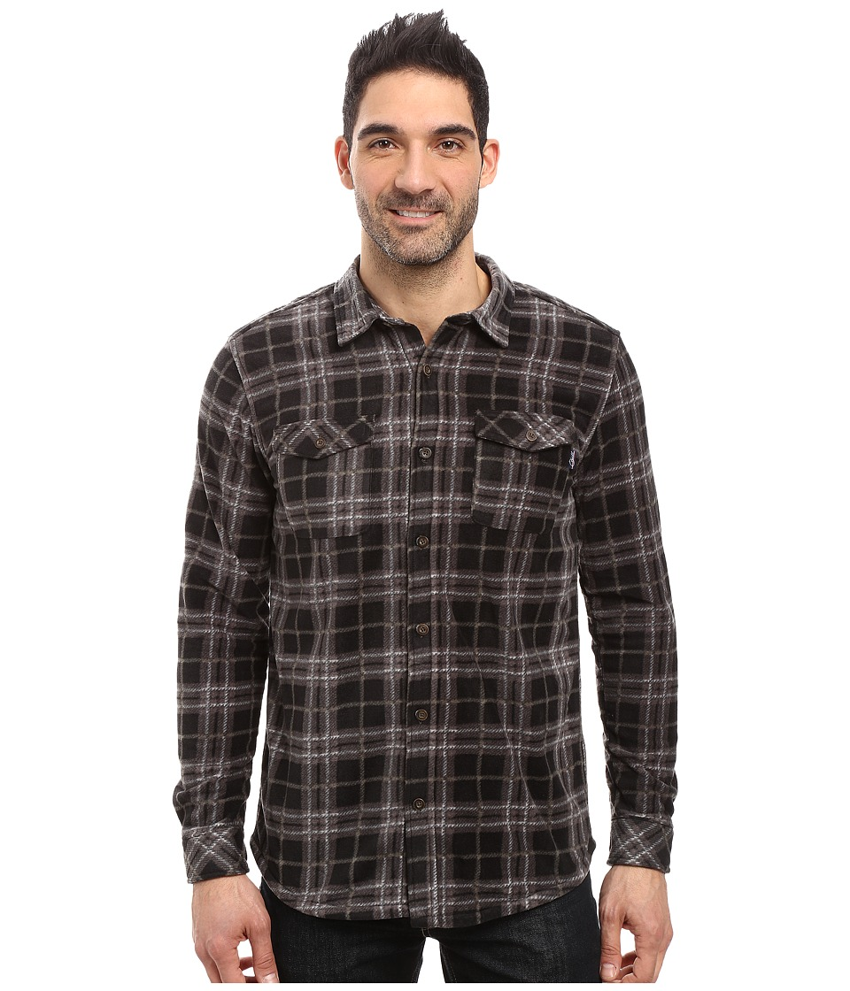 Jack O'Neill - Poseidon Woven (Army) Men's Long Sleeve Button Up